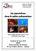 Les associations en milieu subaquatique